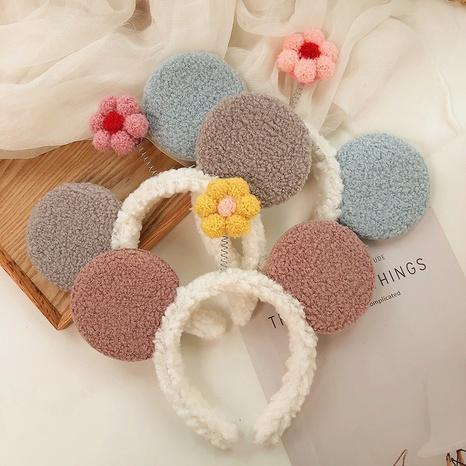 Koreanisches Lammhaar-Haarband mit breiter Krempe NHWB328963's discount tags