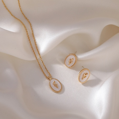 Mode natürliche Perlmutterfalter Ohrring Halskette Set NHMS329168's discount tags