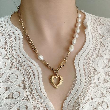 Barocke dicke Perlenkette hohle herzförmige Halskette NHYQ329184's discount tags