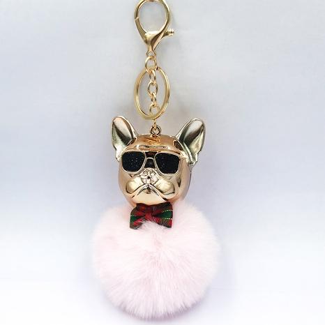 Cartoon sunglasses French fighting dog keychain NHDI329219's discount tags