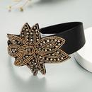 fashion crystal stitching leaf flower shape headband  NHLN329226