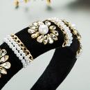 baroque diamondstudded pearl flower headband  NHLN329246
