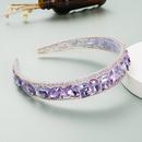 baroque transparent resin inlaid rhinestones headband NHLN329248
