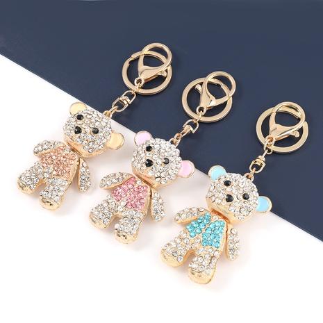 Mit Diamanten besetzter Bärenschlüsselbund aus koreanischer Legierung NHJE329291's discount tags