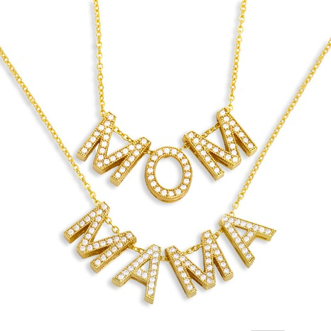 Mother's Day hot-selling fashion Mama letter necklace NHAS329317's discount tags