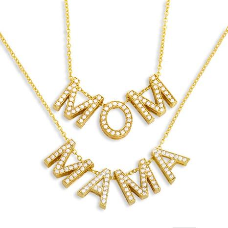 Muttertag heiß verkaufte Mode Mama Briefkette NHAS329317's discount tags