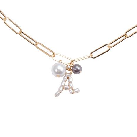 Koreanische Perle Brief Halskette Großhandel NHJJ329330's discount tags