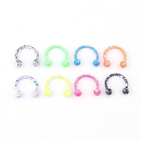 bunte Schneeflocke Punktfarbe C-förmiger Nasenring NHEN329341's discount tags