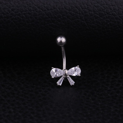 bow stainless steel belly button nail wholesale NHEN329342's discount tags