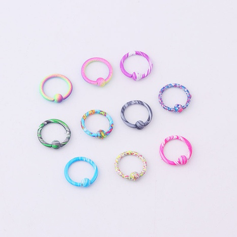 10-Farben-Lackwassermuster Mehrzweckring NHEN329352's discount tags