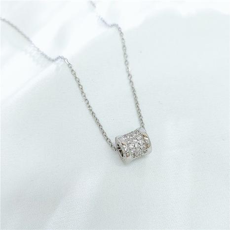 Koreanische Geometrie-Schlangenknochen-Halskette NHVA329389's discount tags
