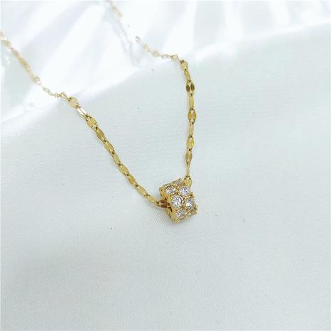 Koreanische geometrische Schlangenknochen-Halskette NHVA329391's discount tags