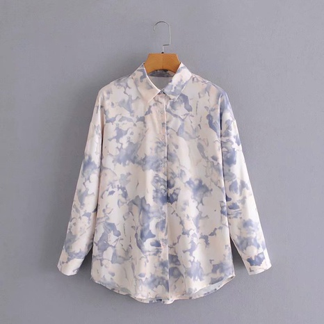 new fashion oil painting all-match shirt NHAM319094's discount tags