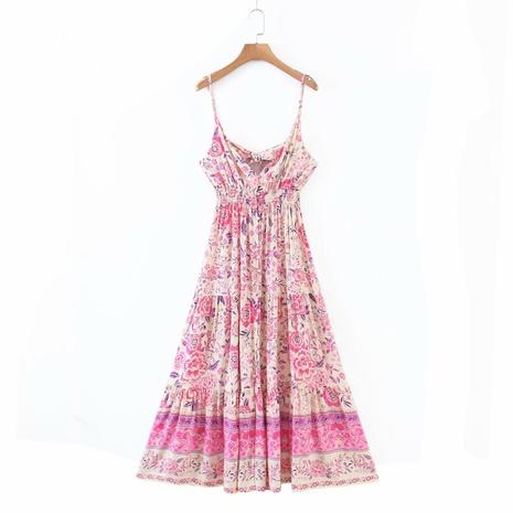 Mode Rayon Positionierung Druck Sling Kleid NHAM319158's discount tags