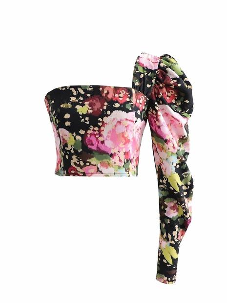 Mode National Tide unregelmäßigen Kragen engen Hemd NHAM319160's discount tags