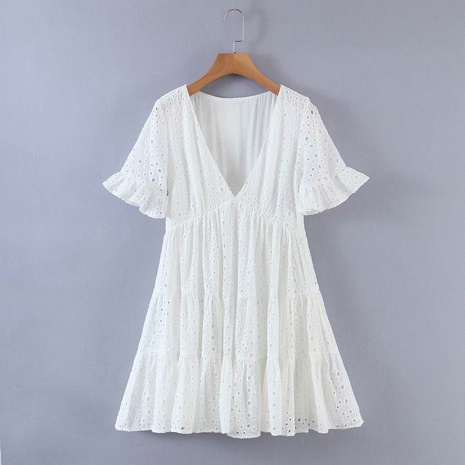 fashion embroidered hollow dress NHAM319170's discount tags