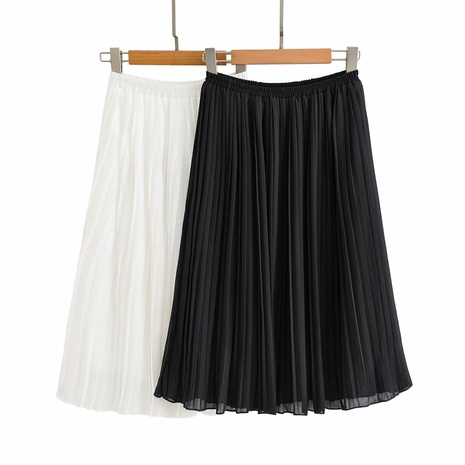 fashion elastic waist chiffon pleated loose long skirt NHAM319182's discount tags