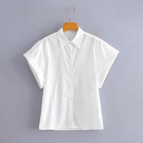 fashion short-sleeved white shirt NHAM319183's discount tags