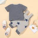 baby striped leisure Tshirt shorts twopiece suit NHLF319386