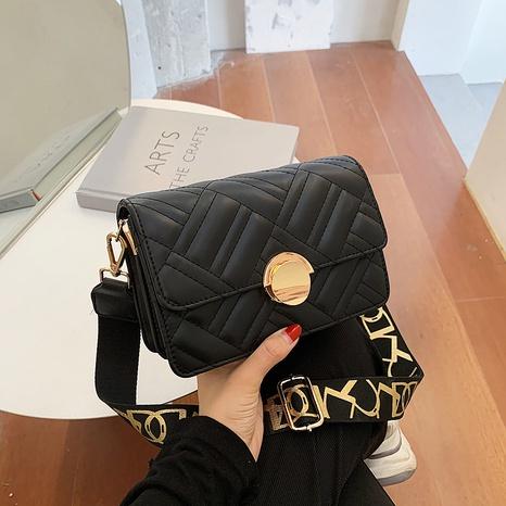 Fashion texture single shoulder bag stitching messenger bag NHJZ319460's discount tags