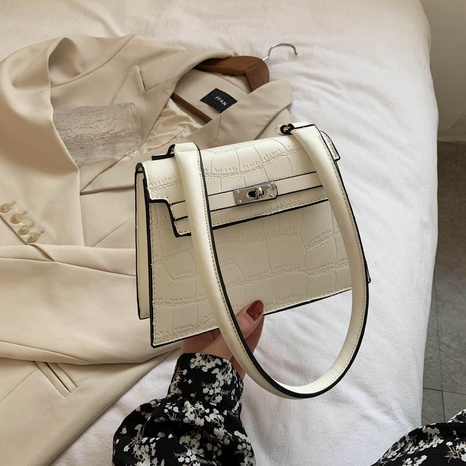 Retro crocodile pattern portable small square bag casual shoulder messenger bag NHJZ319463's discount tags