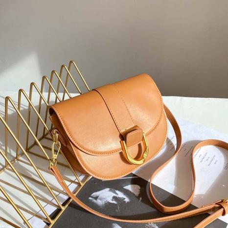 Fashion shoulder bag solid color saddle bag NHJZ319466's discount tags