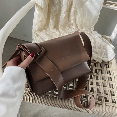 Fashion single shoulder retro casual solid color crossbody bags NHJZ319469's discount tags