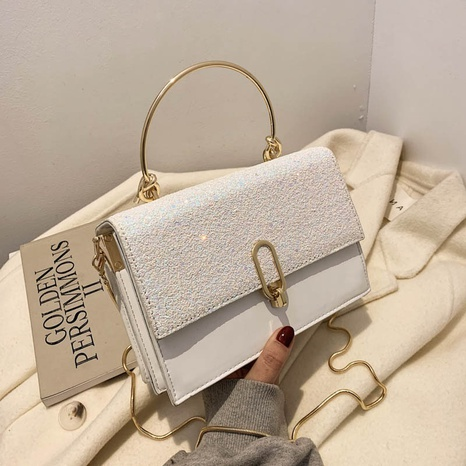 Fashion Sequins shoulder bag portable small square bag messenger bag NHJZ319470's discount tags