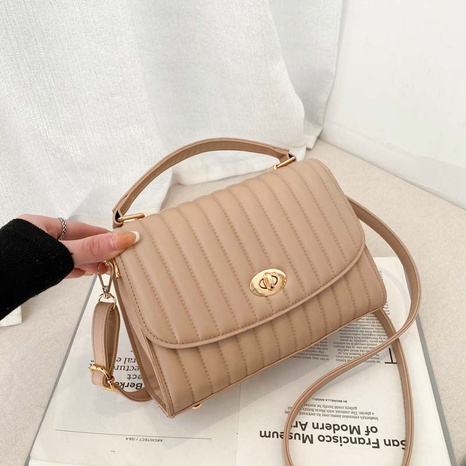 Fashion rhombus portable messenger bag casual small square bag NHJZ319473's discount tags