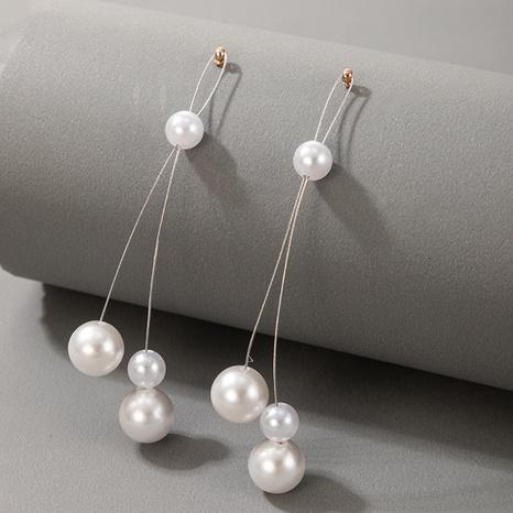 new pearl simple tassel earrings NHGY319531's discount tags