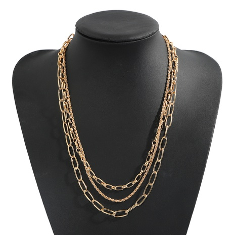 Korea double thick chain alloy necklace NHJQ329580's discount tags