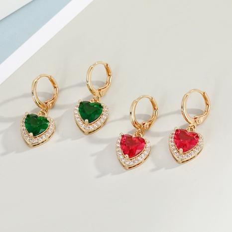 Korean diamond alloy plating heart-shaped earrings  NHGO329688's discount tags