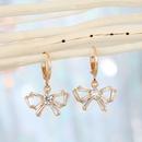Korean diamondstudded zircon flower earring NHGO329696