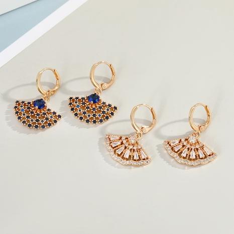 Korean fan-shaped earrings wholesale NHGO329700's discount tags