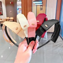 Korean solid color bow headband  NHNA329705