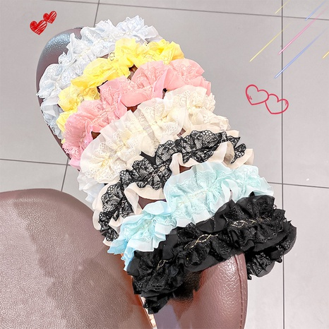 Mode Candy Color Spitze Stirnband NHNA329710's discount tags