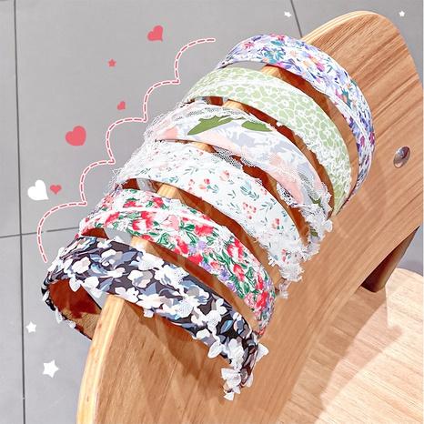 Koreanisches florales Stirnband mit breiter Krempe NHNA329720's discount tags