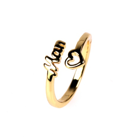 wholesale English letters MOM heart ring  NHPY329735's discount tags