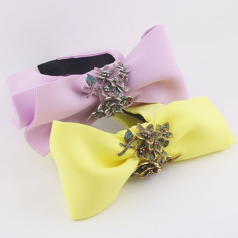 fashion bowknot diamond flower sponge fabric headband  NHWJ329785's discount tags