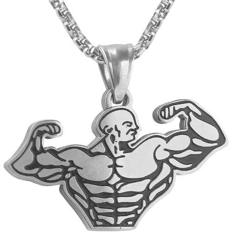 Mode muskulöse Männer Legierung Halskette Großhandel NHACH329829's discount tags