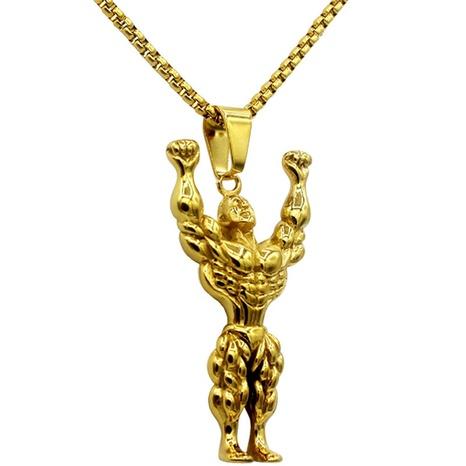 Einfache Muskel Männer Halskette Großhandel NHACH329834's discount tags