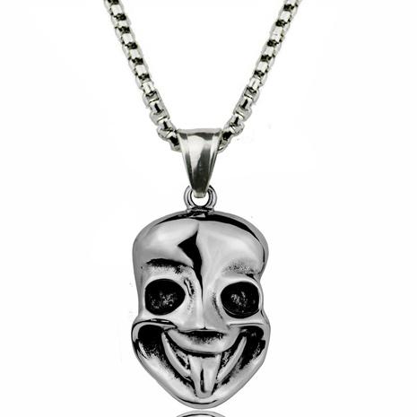 Hip Hop Maske Smiley Edelstahl Halskette Großhandel NHACH329837's discount tags
