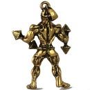 Collier simple en acier inoxydable pour hommes d39haltrophilie NHACH329840