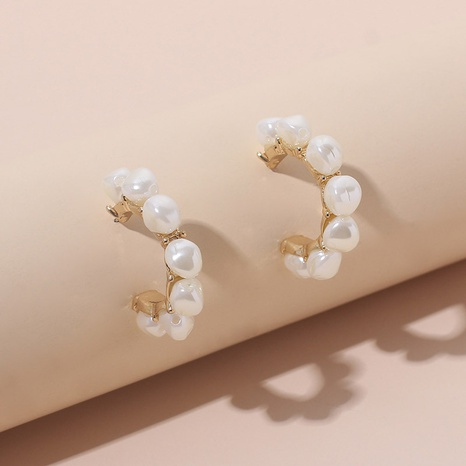 Baroque pearl c-shaped earring wholesale NHRN329852's discount tags
