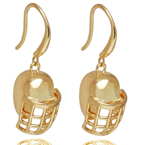 Fashion Rugby Helmet Earrings Wholesale  NHACH329885's discount tags