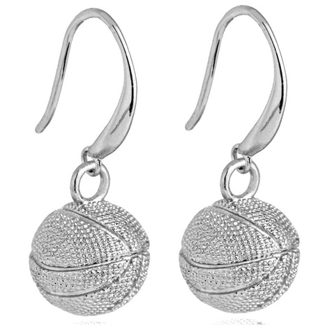 Round basketball earrings wholesale  NHACH329886's discount tags