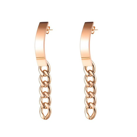 Fashion geometric chain stainless steel earrings NHOP329474's discount tags