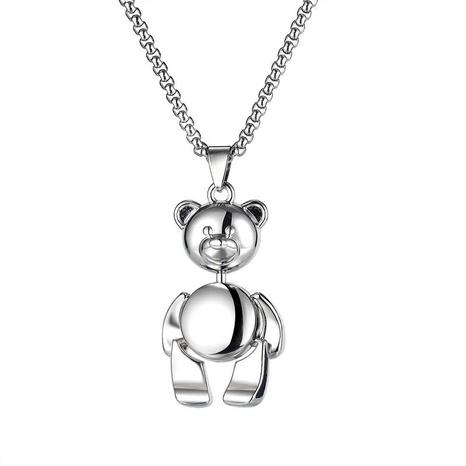 Einfache Teddybär Edelstahl Halskette Großhandel NHOP329486's discount tags