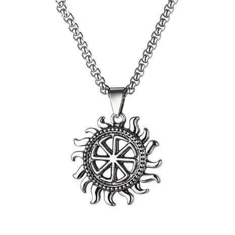 Hip-Hop Sun Hohllegierung Halskette Großhandel NHOP329488's discount tags