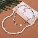 Sautoir multicouche fleur perle de Bohme NHLA329891